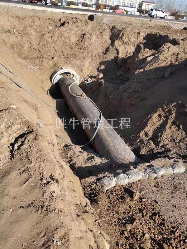 管内吹沙回填